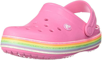 10-Best-Baby-Crocs-to-Choose-From-Kid's-Crocband-Rainbow-Glitter-Clogs