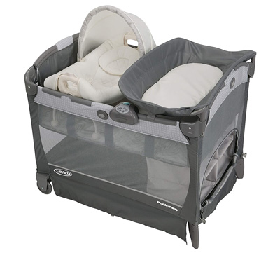 Best-Baby-Playpen-Graco-Pack-'n-Play-Playard-with-Cuddle-Cove-Removable-Rocking-Seat
