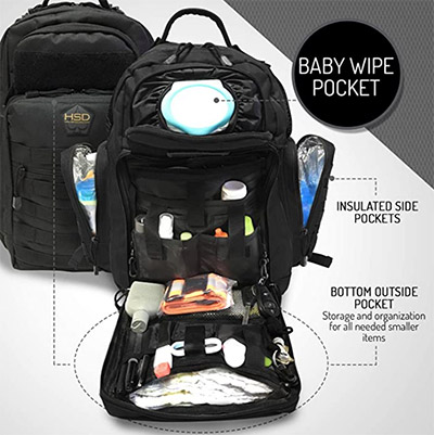 HSD Dad Diaper Bag Backpack