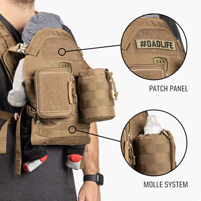 TBG - Men's Tactical Baby Carrier for Infants and Toddlers
