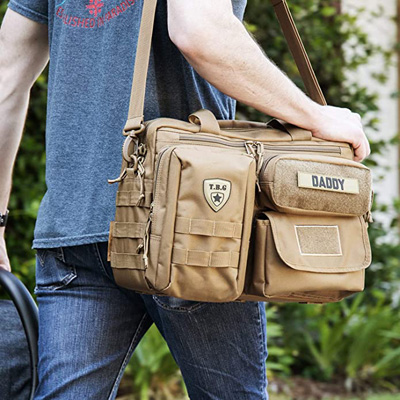 TBG - Men's Tactical Diaper Bag for Dads with Included Stroller Straps