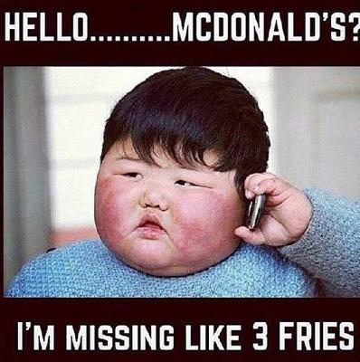 Hello-McDonald's-I-am-Missing-Like-3-Fries