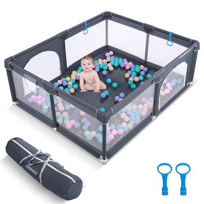 Best-Baby-Play-Yard-in-the-Market-Baby-Play-Yard-CONMIXC-Extra-Large-See-ThroughPlay-Yard
